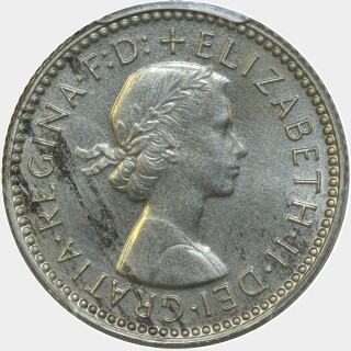 1958 Proof Sixpence obverse