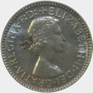 1956 Proof Sixpence obverse