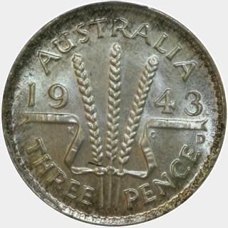 1943-D  Threepence reverse