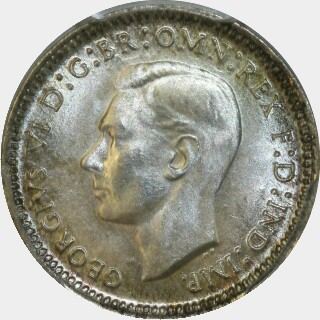 1943-D  Threepence obverse