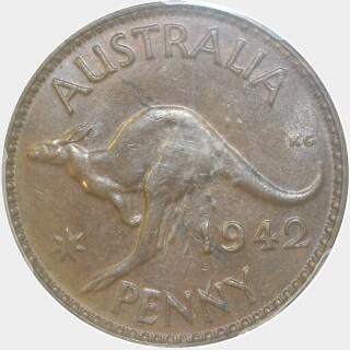 1942-Y  Penny reverse