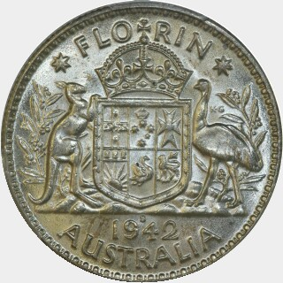 1942-S  Florin reverse