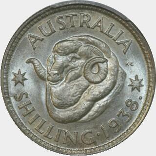 1938  Shilling reverse