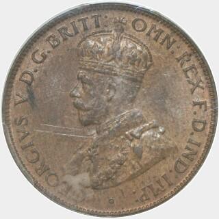 1934  Half Penny obverse