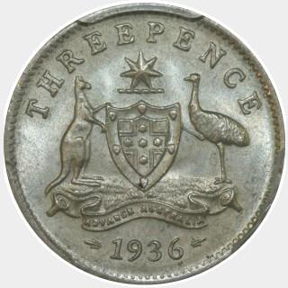 1936  Threepence reverse