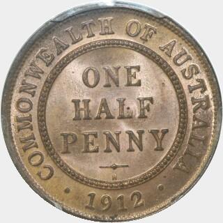 1912-H  Half Penny reverse