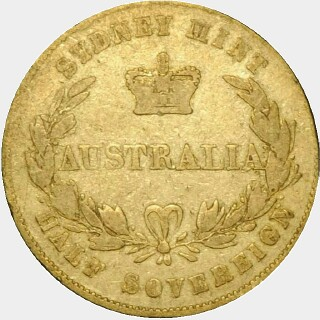1856 Alternate Reverse Half Sovereign reverse