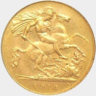 1918-P  Half Sovereign reverse