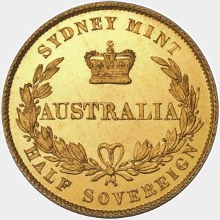 1855 Proof Half Sovereign reverse