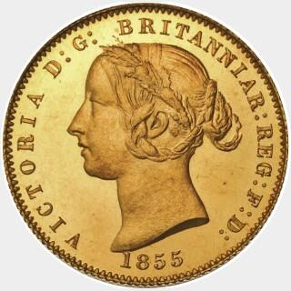 1855 Proof Half Sovereign obverse