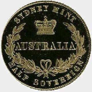 1866 Proof Half Sovereign reverse