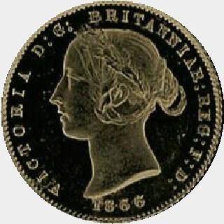 1866 Proof Half Sovereign obverse