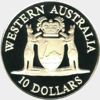 1990  Ten Dollar reverse