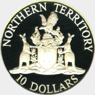 1992  Ten Dollar reverse