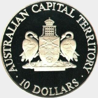 1993  Ten Dollar reverse