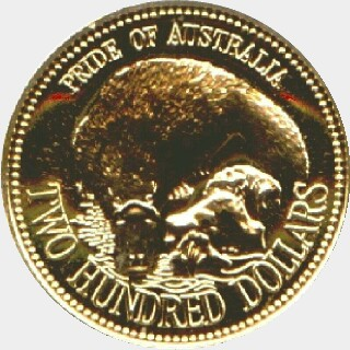 1990  Two Hundred Dollar reverse