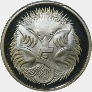 1982 Proof Five Cent reverse
