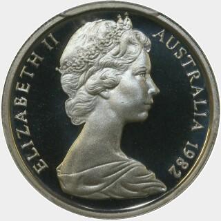 1982 Proof Five Cent obverse