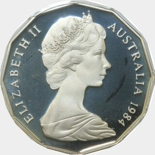 1984 Proof Fifty Cent obverse