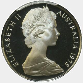 1975 Proof Five Cent obverse