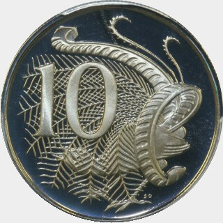 1977 Proof Ten Cent reverse