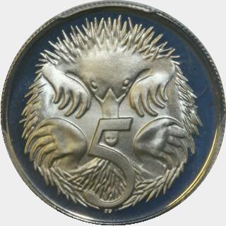 1977 Proof Five Cent reverse