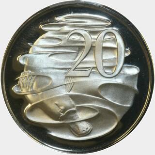 1978 Proof Twenty Cent reverse