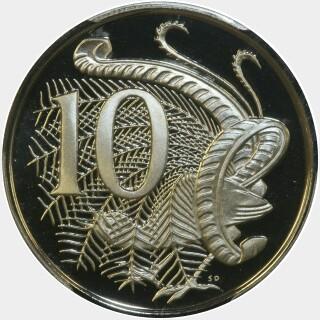 1978 Proof Ten Cent reverse