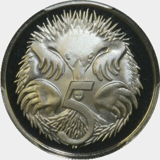 1978 Proof Five Cent reverse