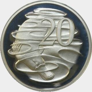 1979 Proof Twenty Cent reverse