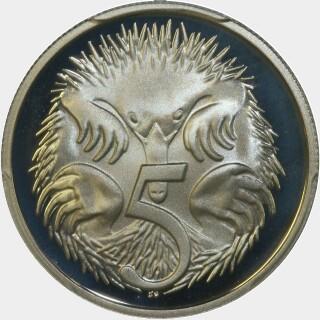 1979 Proof Five Cent reverse