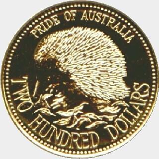 1992  Two Hundred Dollar reverse
