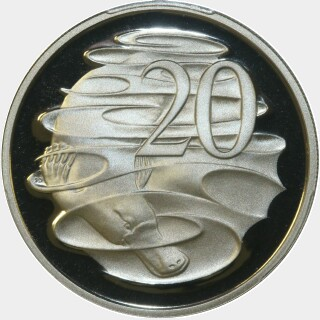 1983 Proof Twenty Cent reverse