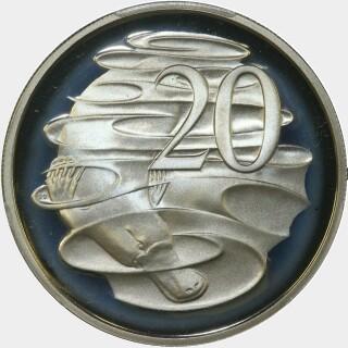 1982 Proof Twenty Cent reverse