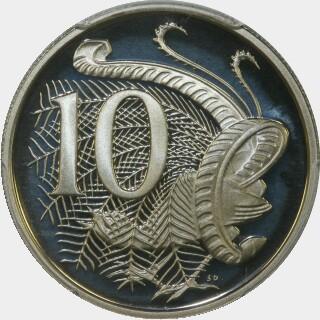 1982 Proof Ten Cent reverse