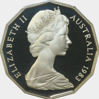 1983 Proof Fifty Cent obverse