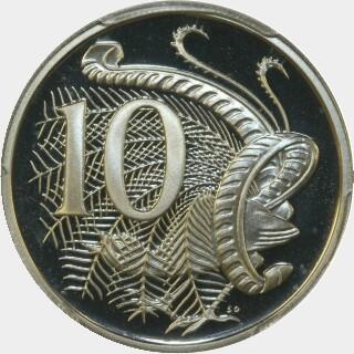 1983 Proof Ten Cent reverse