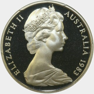1983 Proof Ten Cent obverse