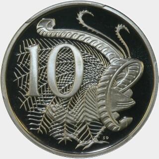 1984 Proof Ten Cent reverse
