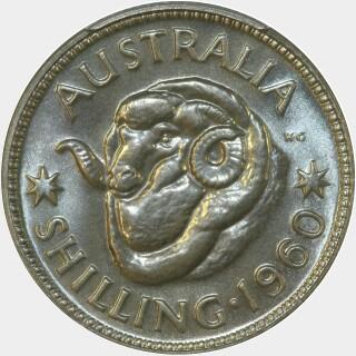 1960 Proof Shilling reverse