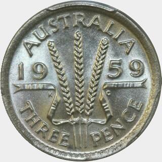 1959  Threepence reverse