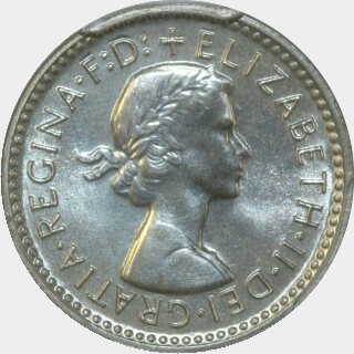 1960 Proof Threepence obverse
