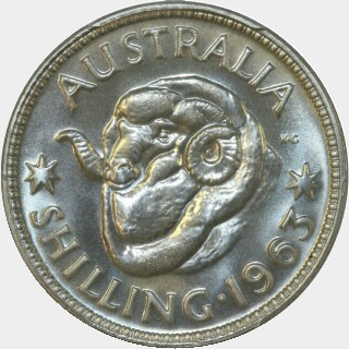 1963 Proof Shilling reverse