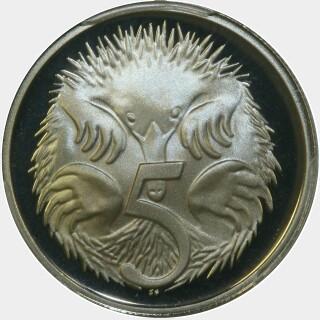 1981 Proof Five Cent reverse