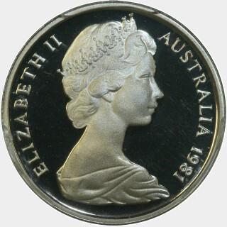 1981 Proof Five Cent obverse