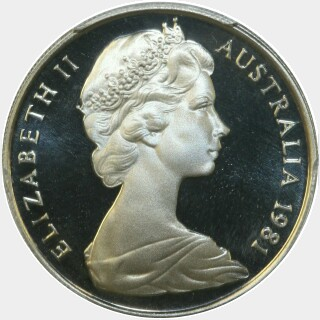 1981 Proof Ten Cent obverse