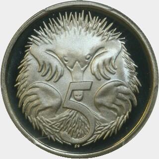 1980 Proof Five Cent reverse