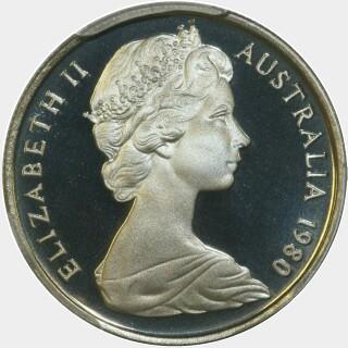 1980 Proof Five Cent obverse
