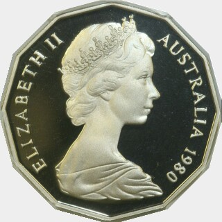 1980 Proof Fifty Cent obverse