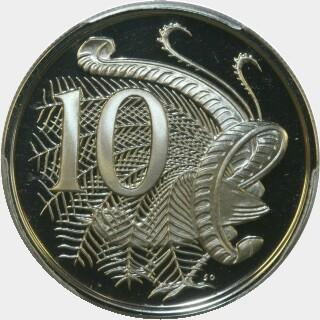 1975 Proof Ten Cent reverse